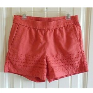 J. Crew Shorts - J.Crew coral eyelet shorts